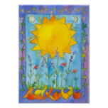 Sunshine Fruit Summer Solstice Watercolor Poster