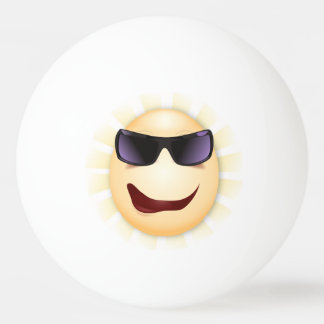 Sunshine Funny Hipster Cartoon Face Ball