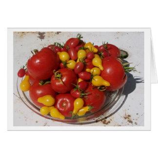 Sunshine Garden Collection ~ Tomatoes Card
