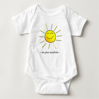 "Sunshine (goes w/ ""you are my sunshine"") matching baby bodysuit"