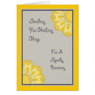 Sunshine Healing Hugs for Knee Surgery Card