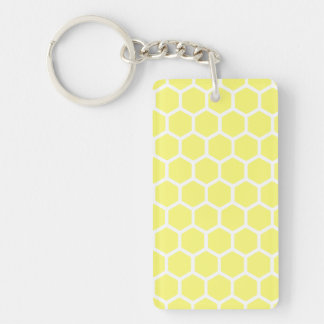 Sunshine Hexagon 2 Double-Sided Rectangular Acrylic Keychain