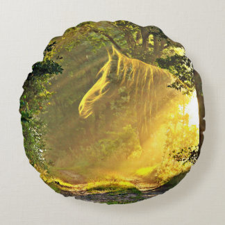 Sunshine horse round pillow