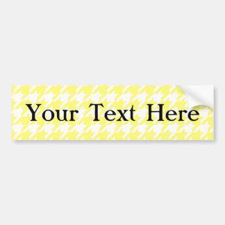 Sunshine Houndstooth 1 Bumper Sticker
