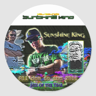 Sunshine King 2011 mix Round Sticker
