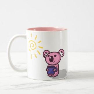 Sunshine Koala - Pink Two-Tone Coffee Mug
