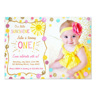 Sunshine Lemonade Birthday Party Invitation