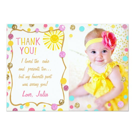 Sunshine Lemonade Birthday Thank You Card
