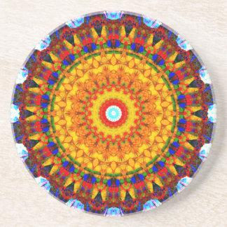 Sunshine Mandala Coaster