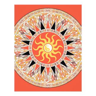 Sunshine mandala full color flyer