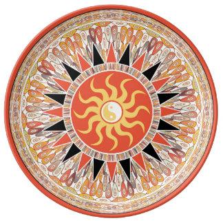 Sunshine mandala plate