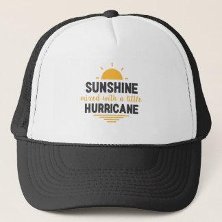 Sunshine Mixed with Hurricane Type of Girl Trucker Hat
