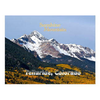 Sunshine Mountain - Vintage Style Postcard
