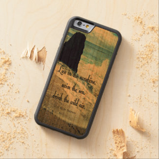 Sunshine ocean sea quote carved cherry iPhone 6 bumper case