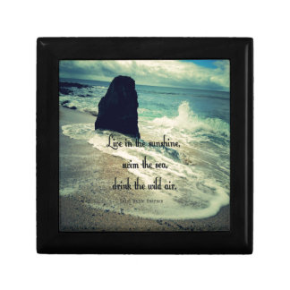 Sunshine ocean sea quote gift box