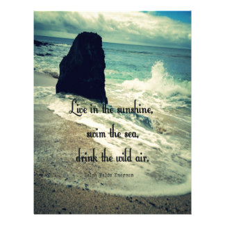 Sunshine ocean sea quote letterhead