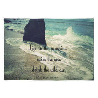 Sunshine ocean sea quote placemat