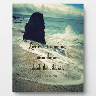 Sunshine ocean sea quote plaque