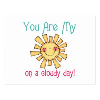Sunshine on a Cloudy Day Postcard