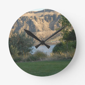 Sunshine on the Canyon Wall Round Clock