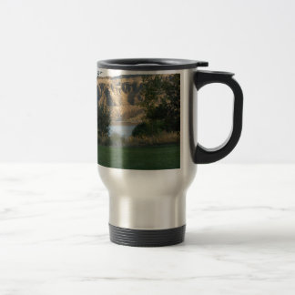 Sunshine on the Canyon Wall Travel Mug