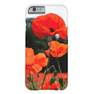 Sunshine Orange Poppy Field Barely There iPhone 6 Case
