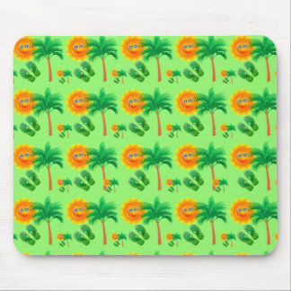Sunshine, Palm Trees and Flip Flops Mouse Pad