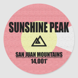 Sunshine Peak Classic Round Sticker