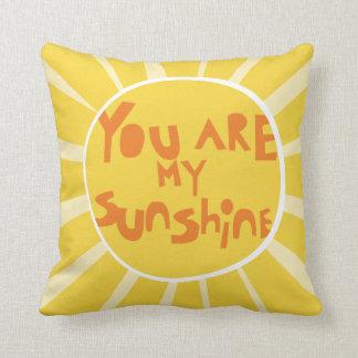 Sunshine_PillowCover_yellow Throw Pillow
