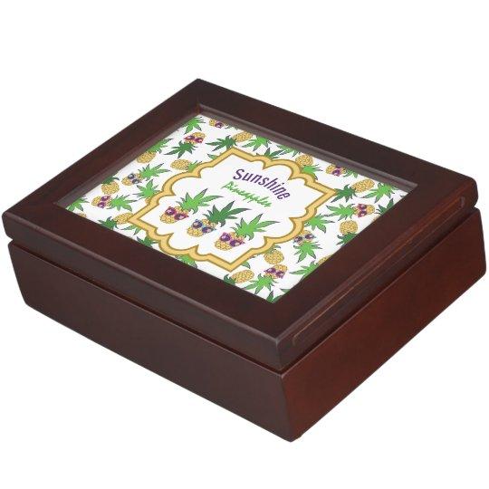 Sunshine Pineapples Pattern Keepsake Box