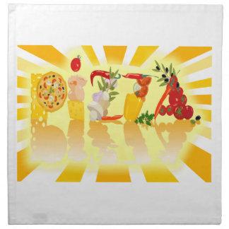 Sunshine Pizza Cloth Napkin