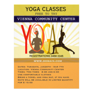 Sunshine Rays Sport Fitness Yoga Poses Customized Flyer