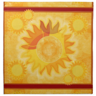 Sunshine Red Dinner Napkin