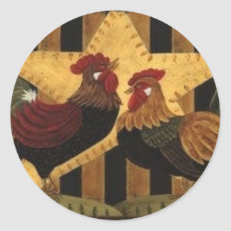 Sunshine Rooster Round Sticker