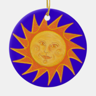 Sunshine Round Ceramic Ornament
