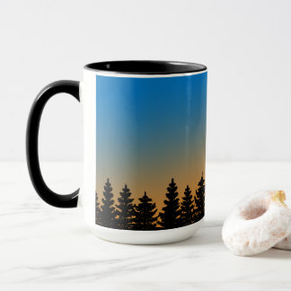 Sunshine Sky and Pine Trees | Pine Forest | Mug