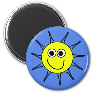 Sunshine smile a yellow sun with a smile on magnet