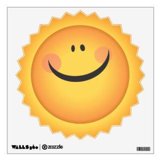Sunshine Smiliey Sun Face Kids Room Wall Decal