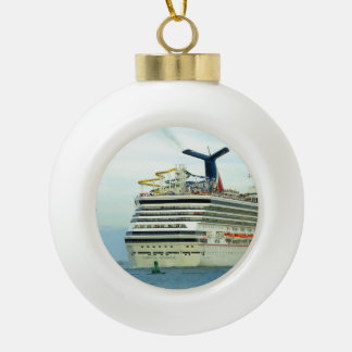 Sunshine Stern Ceramic Ball Ornament