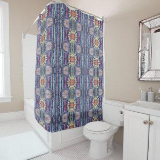 sunshine stripes shower curtain
