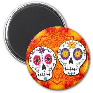 Sunshine Sugar Skull Magnet