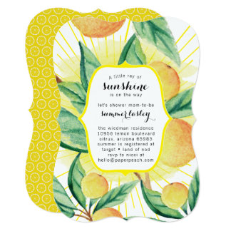 Sunshine Summer Baby Shower Invitations