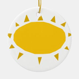 Sunshine, Sun shining, cartoon Round Ceramic Ornament