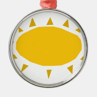 Sunshine, Sun shining, cartoon Silver-Colored Round Ornament