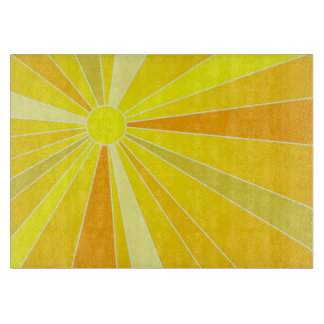 Sunshine Sun with Yellow and Orange Rays Colorful Cutting Board