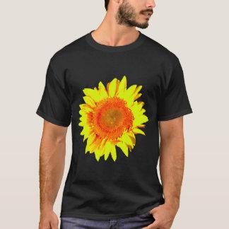 Sunshine Sunflower on a black T-Shirt