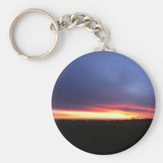 Sunshine - sunrise basic round button keychain