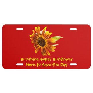 Sunshine Super Sunflower License Plate