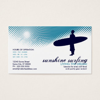 sunshine surfing business card