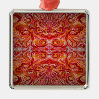 Sunshine Swirl Silver-Colored Square Ornament
